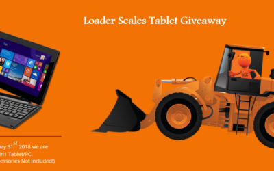 Loader Scales Tablet Technology Prize Draw